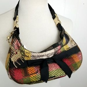 L.A.M.B. x LeSportsac Plaid Mini Hobo Handbag